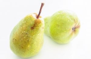 an image of pears for pear and blue cheese salad