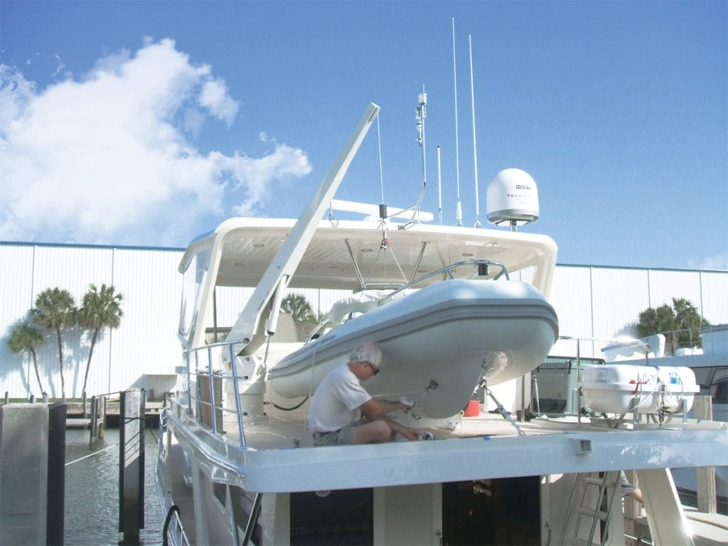 an image of davit maintenance