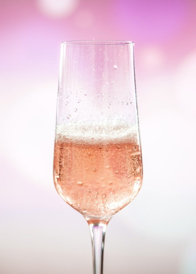 an image of a pink champagne cocktail