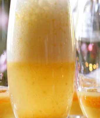 mango bellini cocktail recipe from Southern Boating