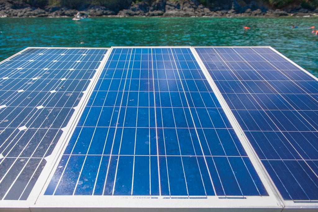 install a solar panel on your boat