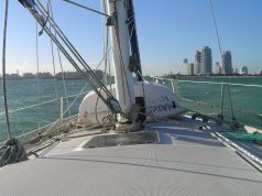an image of a sailboat and Tips for Crossing the Gulf Stream
