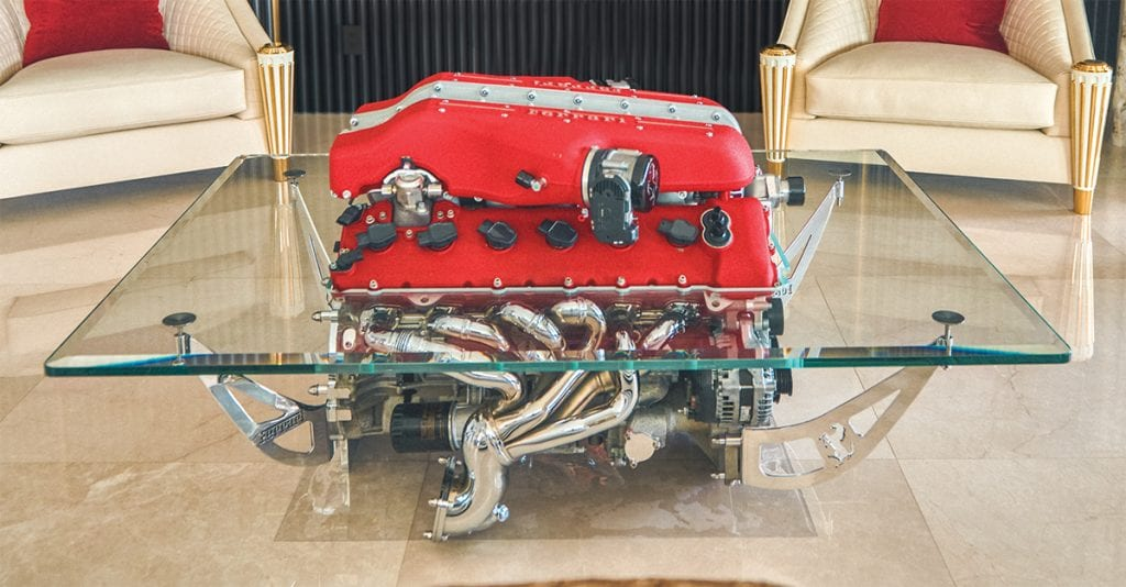 Ferrari engine table