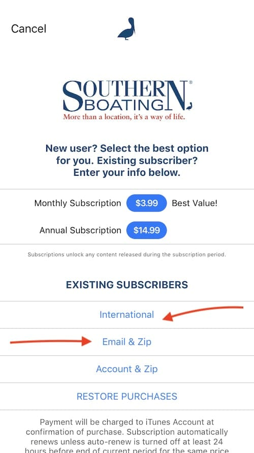 Existing Subscriber