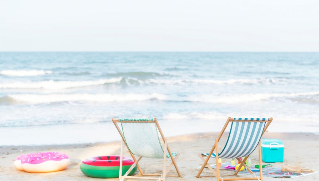 two beach chairs for a comfortable summer