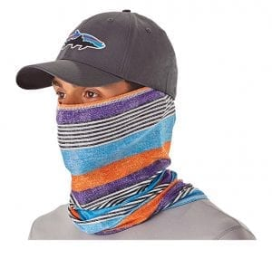 an image of a patagonia face mask Angler apparel