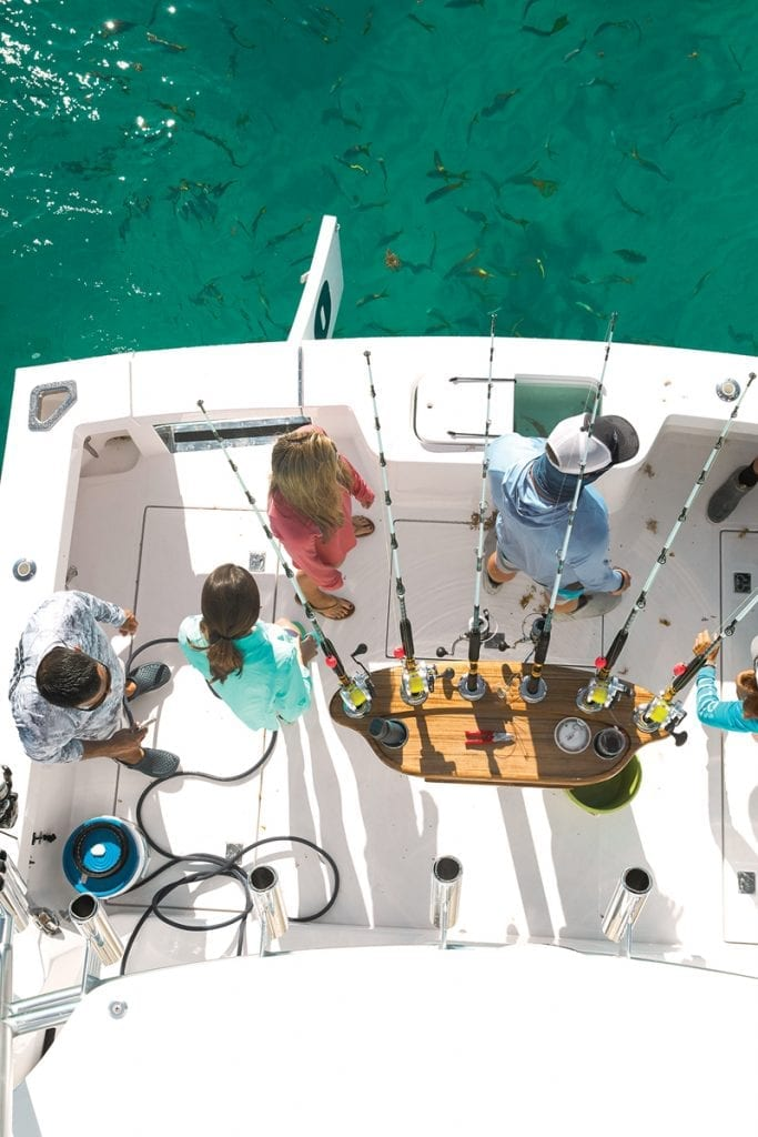 Aft deck on the CABO 41