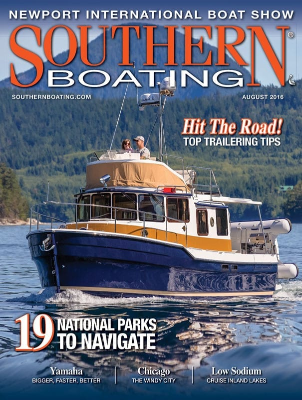 August 2016 cover Southern Boating