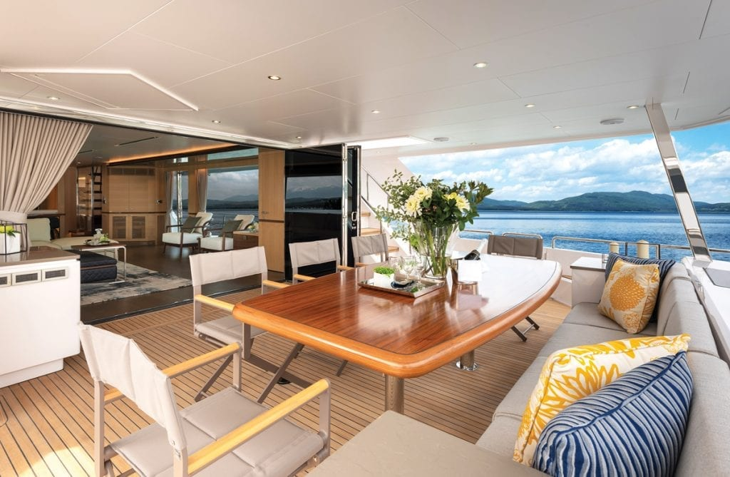aft deck on the FD77