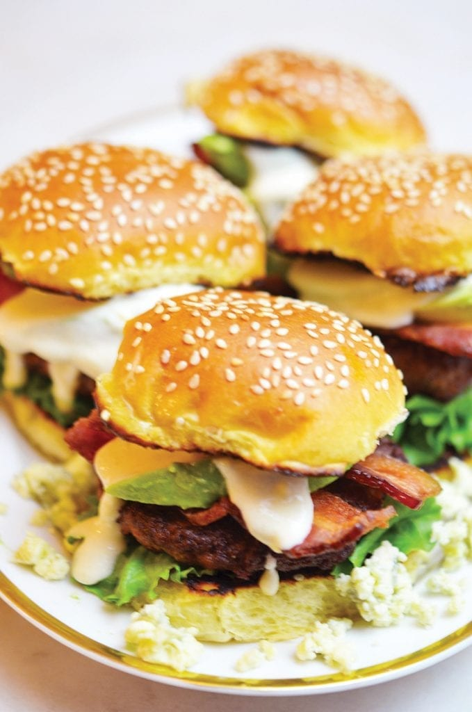 an image of bison sliders with gorgonzola cream